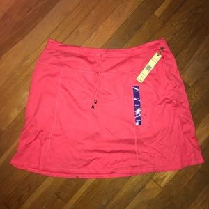 Coral Athletic Knit Skort